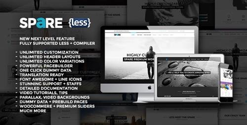 ThemeForest - Spare v1.7 - Ultimate MultiPurpose LESS Theme - 7520253