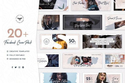 Trendy Facebook Cover Template - UKGPK2