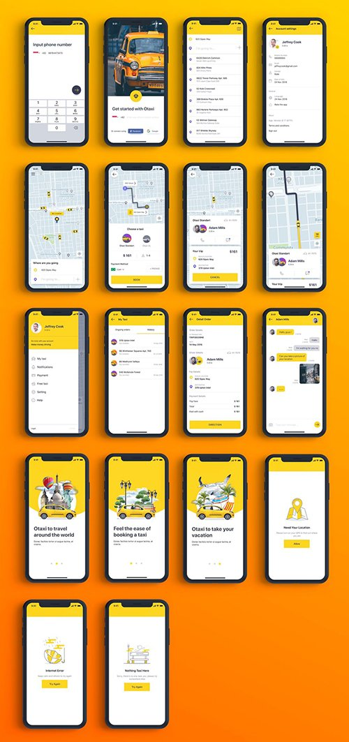 Otaxi Mobile UI Kit