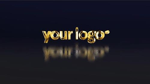 Simple 3D Gold Logo 85258