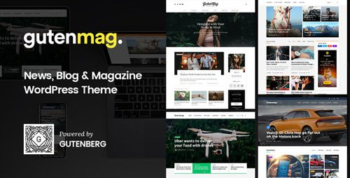 ThemeForest - GutenMag v1.1.2 - Gutenberg WordPress Theme for Magazine and Blog - 22718994