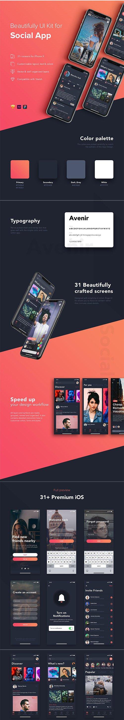 Zingo Social App UI Kit