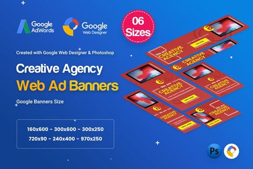 Creative, Startup Agency Banners HTML5 D40 - 99ZW9P