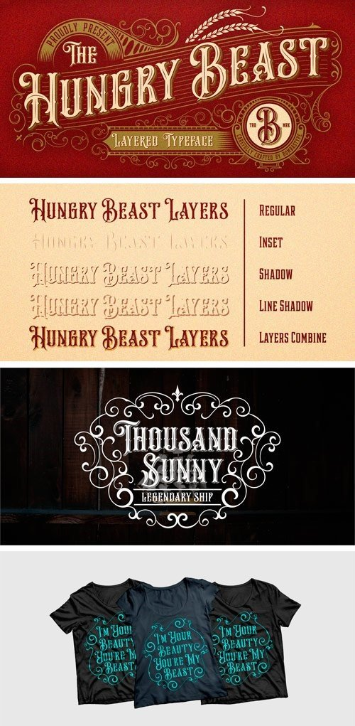 Hungry Beast Font Family