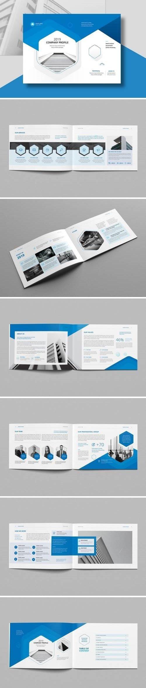 Company Profile Landscape A4