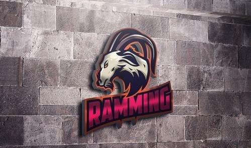 Ram Goat Mascot Esports Logo