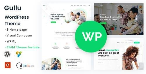ThemeForest - Gullu v1.9 - Creative Digital Agency & Multipurpose WordPress Theme - 20894555