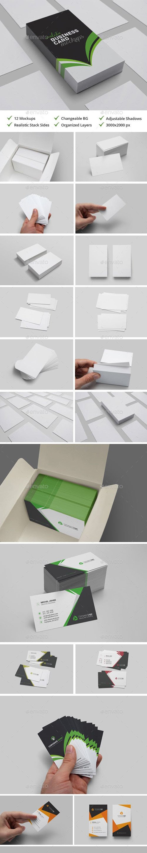 GR - Realistic Business Card Mockups 21115803