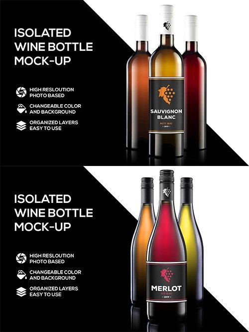 2 Wine Mockups PSD