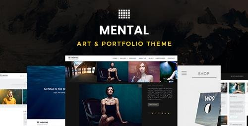 ThemeForest - Mental v2.3.0 - Art & Portfolio Theme - 9696295