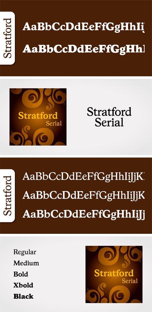 Stratford Serial Font Family