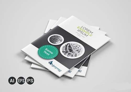 CreativeMarket - Corporate Business Bifold Brochure 3314005