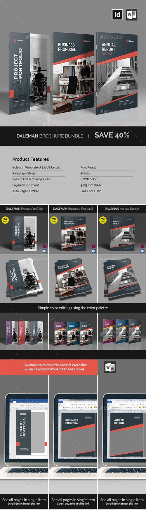 GraphicRiver - Daleman Brochure Bundle 23128496