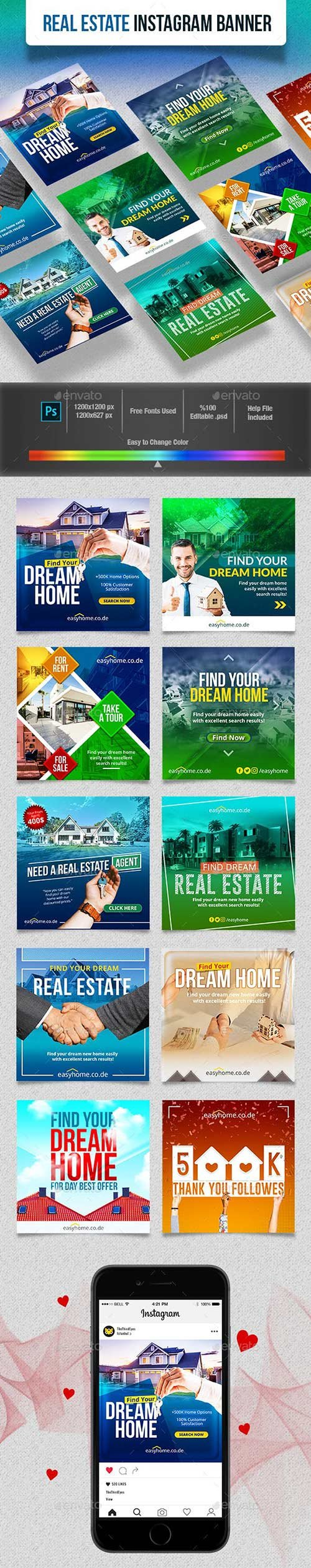 GraphicRiver - Real Estate Instagram Banner 23102118