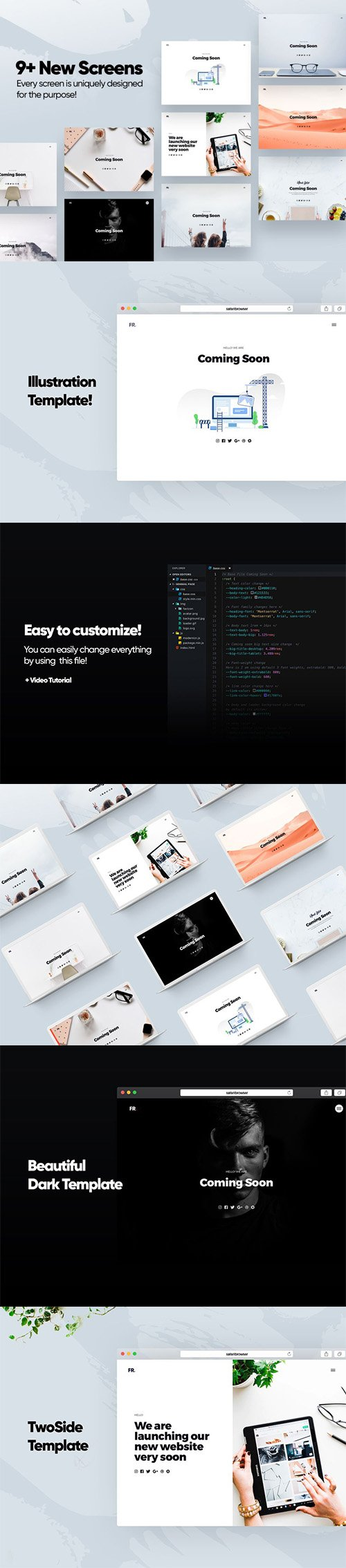 Coming Soon Template v3 - 9+ New version Responsive design