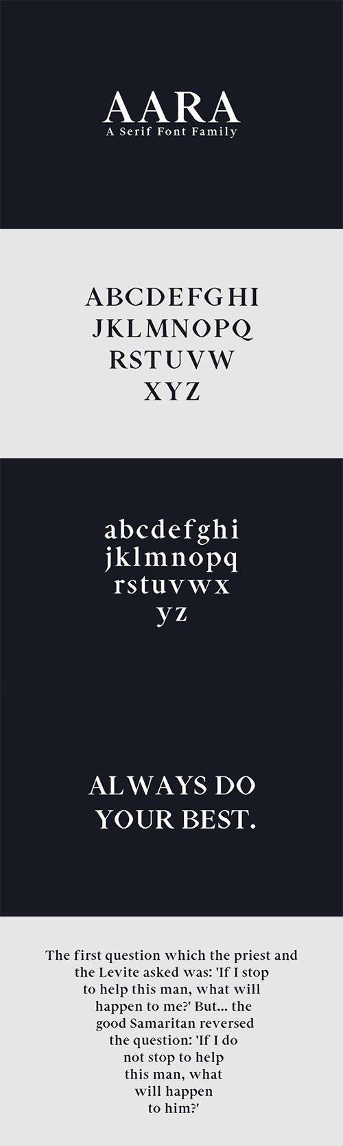Aara Serif Font Family Pack 1377631