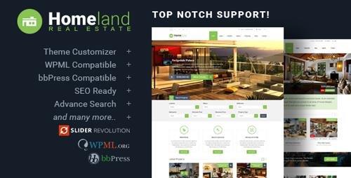 ThemeForest - Homeland v3.2.6 - Responsive Real Estate Theme for WordPress - 6518965
