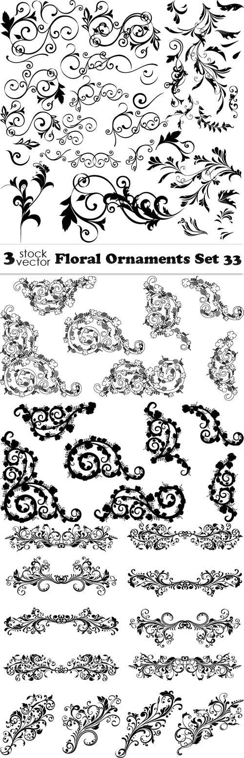 Vectors - Floral Ornaments Set 33