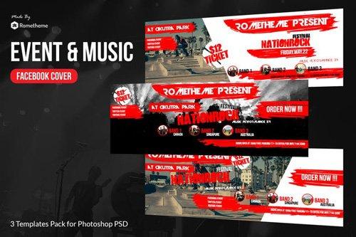Event & Music Facebook Timeline Cover vol.1