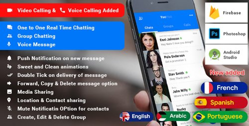 CodeCanyon - Android Chatting App with Voice/Video Calls, Voice messages + Groups -Firebase | Complete App|YooHoo v5.3 - 21134631
