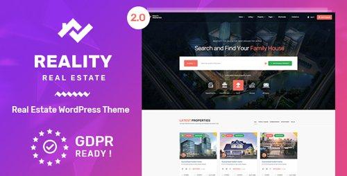 ThemeForest - Reality v2.1.0 - Real Estate WordPress Theme - 21627776