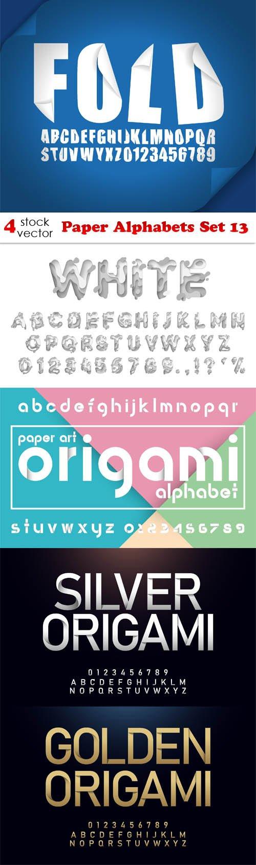 Vectors - Paper Alphabets Set 13