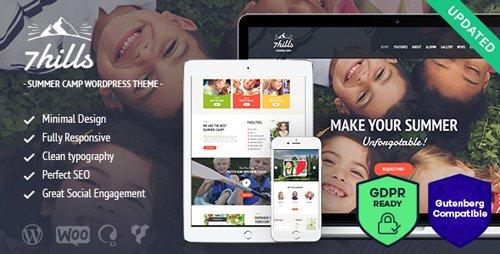 ThemeForest - SevenHills v1.6 - Summer Camp WordPress Theme - 15787400
