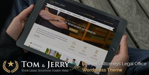 ThemeForest - Tom & Jerry v1.1.1 - A WordPress Law and Business Theme - 11104932