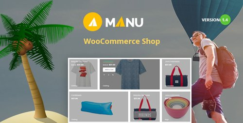ThemeForest - Manu v1.4 - Travel Store WooCommerce WordPress Theme - 20939960