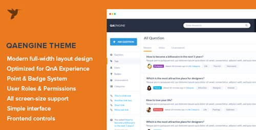 ThemeForest - QAEngine v2.0.12 - Question and Answer WordPress Theme - 7972399