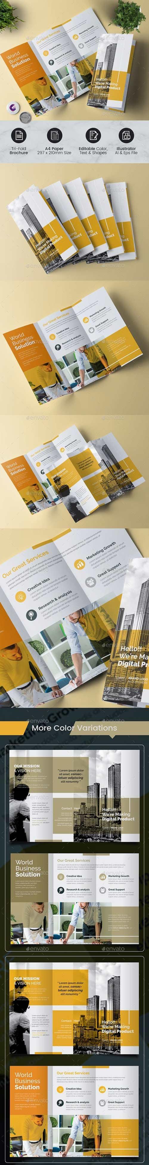 GraphicRiver - Minimal Trifold Brochure 23101005