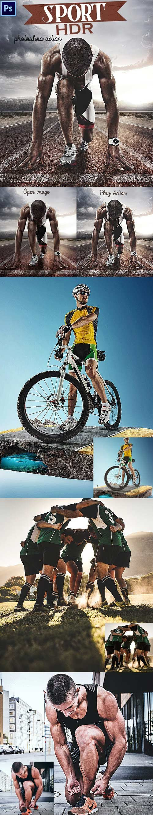 GraphicRiver - Sport HDR Photoshop Action 23105138