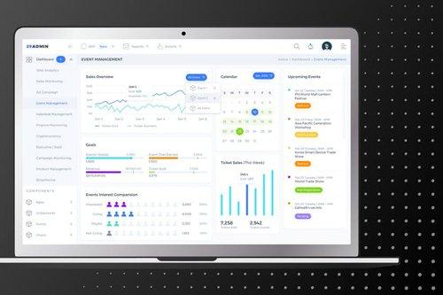 Event Management Admin Dashboard UI - FD