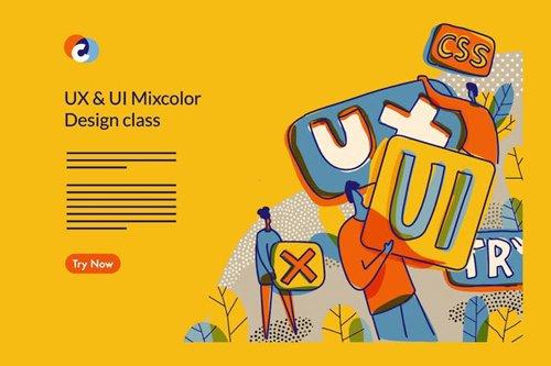 UX UI Design Class Web template
