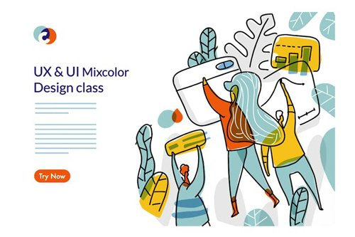 UX UI Design Class Web template 2