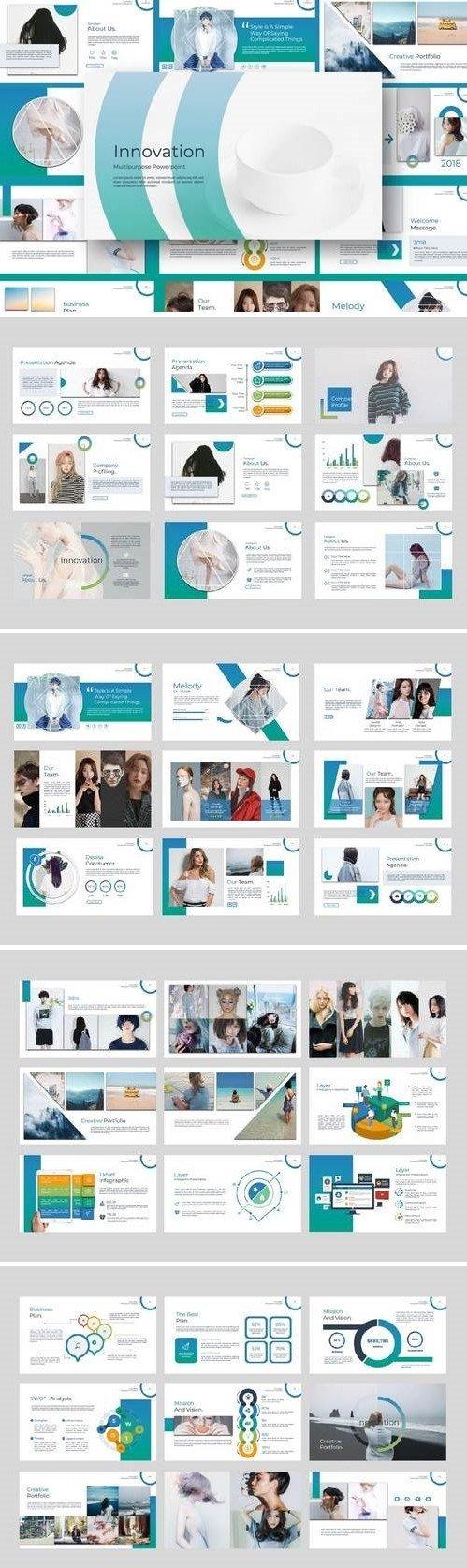 Innovation Multipurpose - Powerpoint, Keynote, Google Sliders Templates