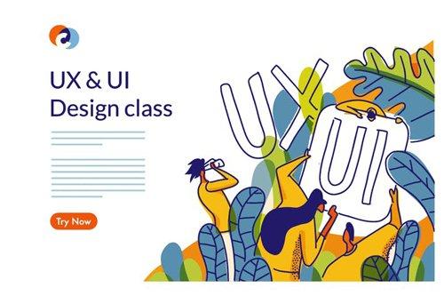UX UI Design Class Web template 3
