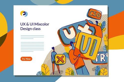 UX UI Design Class Web template 4