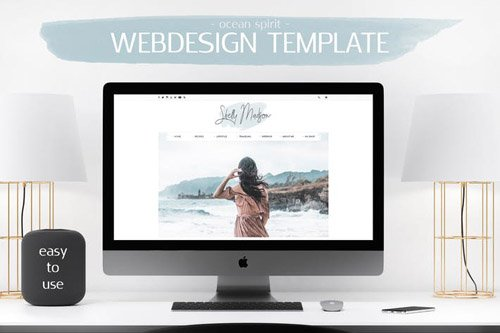 Webdesign Template - Feminine Blog V.1