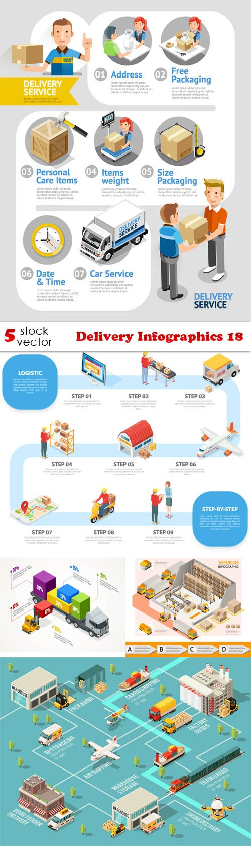 Vectors - Delivery Infographics 18