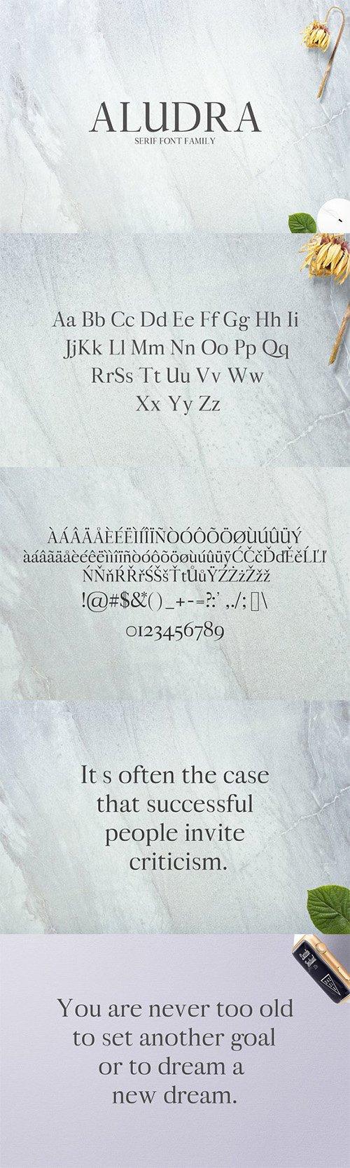 Aludra Serif 12 Font Family Pack 1399783