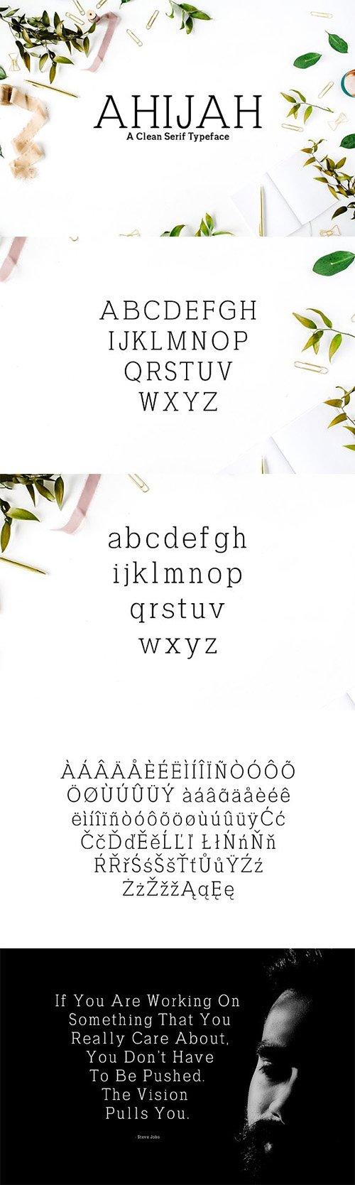 Ahijah A Clean Serif Font Family 1746672