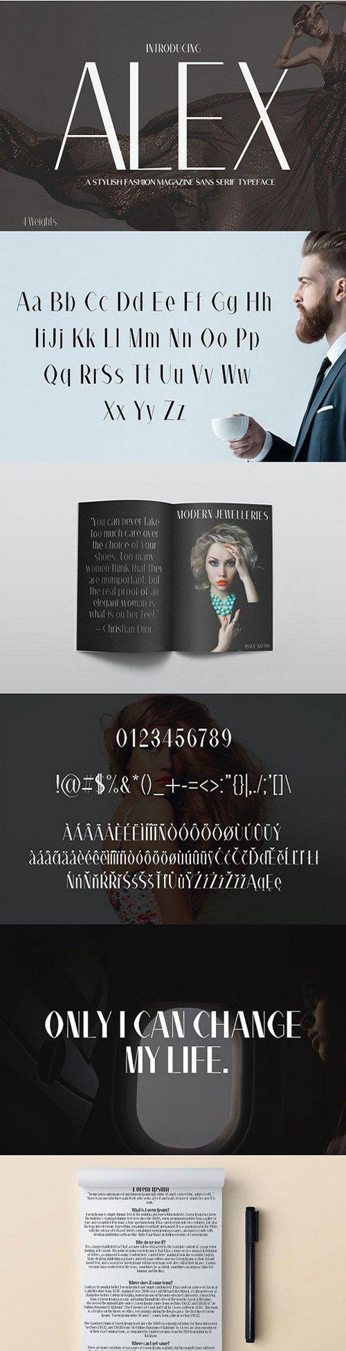 Alex Sans Serif Font Family 1371603
