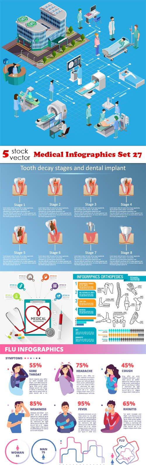 Vectors - Medical Infographics Set 27
