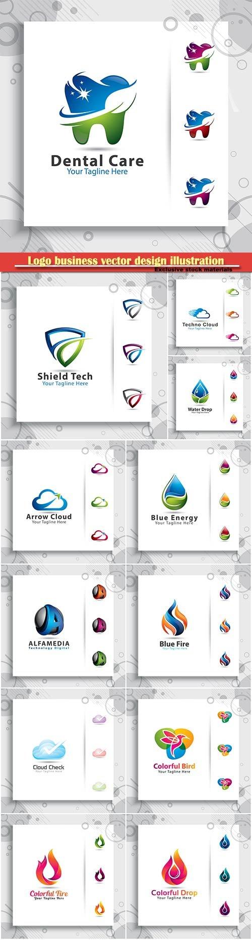 Logo business vector design illustration