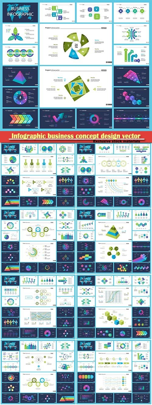 Infographic business concept design vector illustration