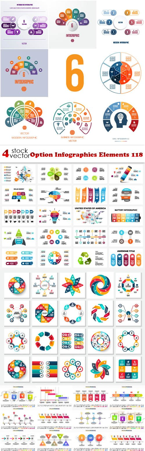 Vectors - Option Infographics Elements 118