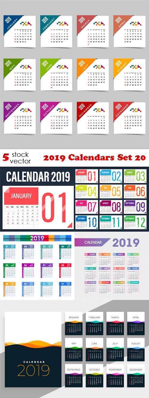 Vectors - 2019 Calendars Set 20