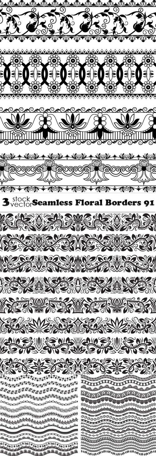 Vectors - Seamless Floral Borders 91