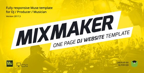 ThemeForest - MixMaker - DJ / Producer / Music Band Website Responsive Muse Template (Update: 8 February 17) - 6947130